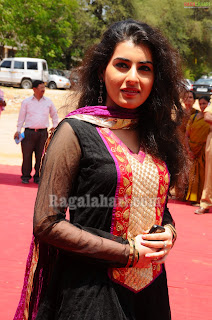 Actress Veda in Black Designer Salwar Kameez Pics