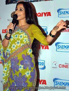 Vidya Balan in Printed Saree pictures