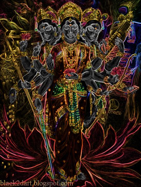 Tridevi - Lakshmi Parvati Saraswati