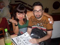 Con Lucas Varela 2009