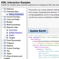 KML Interactive Sampler Screenshot 1 