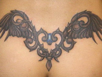 Tribal Wings Tattoo On chest. Tribal Tattoo On Chest