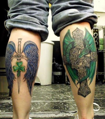 Gothic tattoos show a person's dark side. How much of that dark side you
