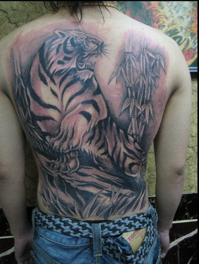 Labels: Japanese Tiger Tattoo Art - Back Tattoos