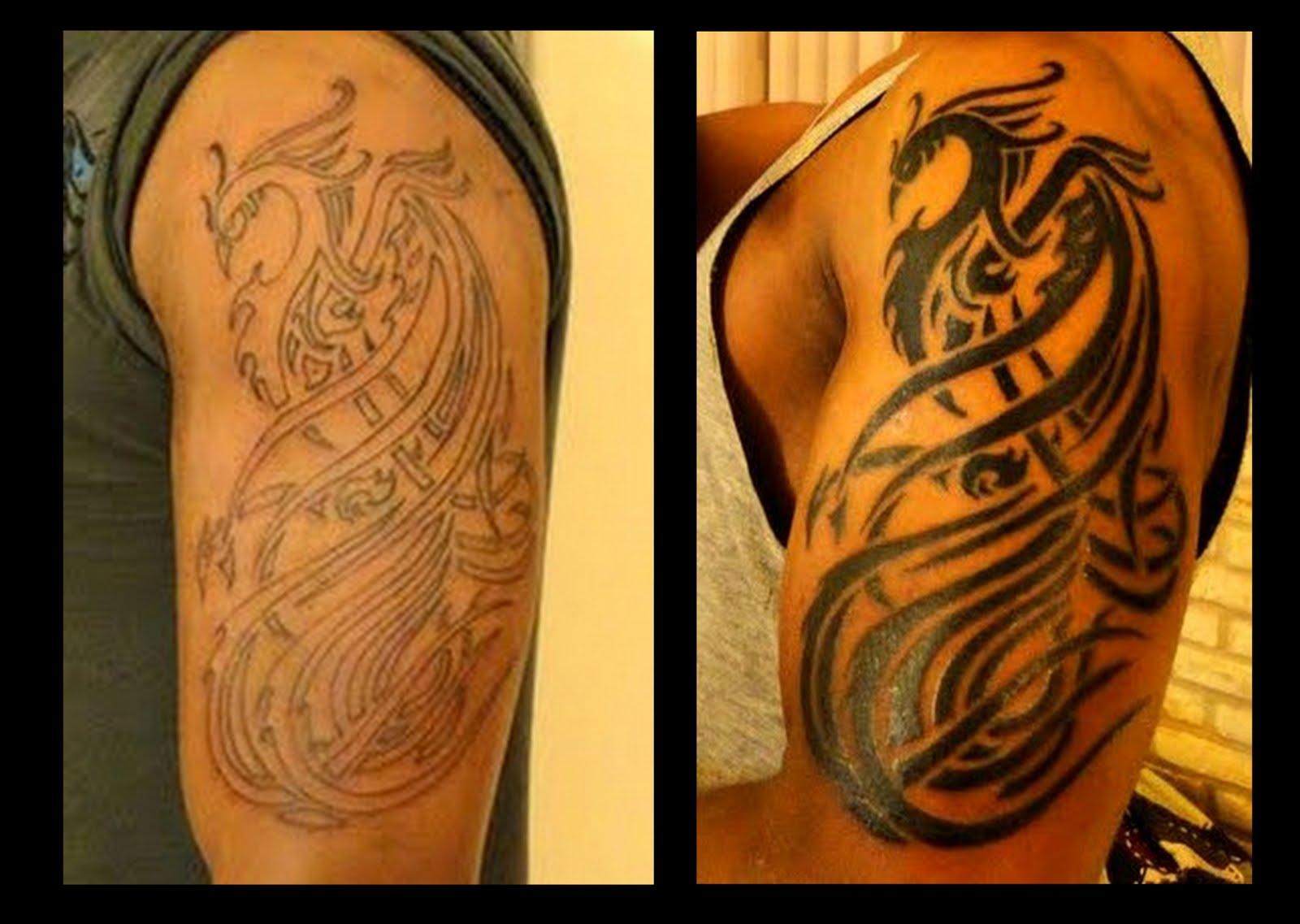 Villa s tatoo fenix tribal for Fenix tribal tattoo