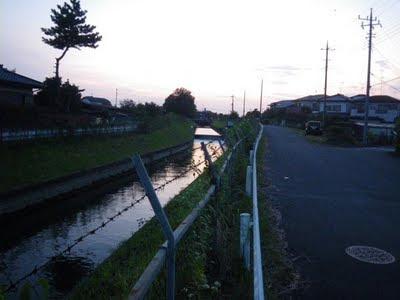 中島用水路取水口近く