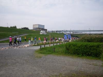復路の給水所