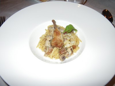 Tagliolini with porcini mushrooms and quail