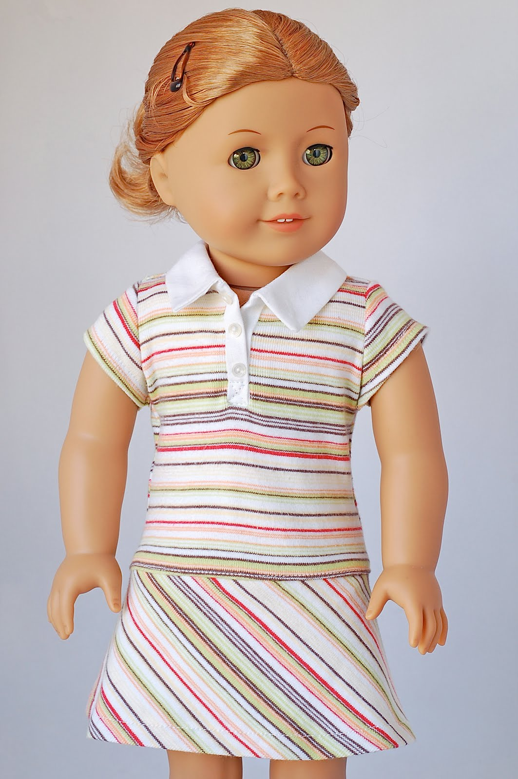 American Girl Doll Clothes Pattern Polo Shirt Dress | Liberty Jane Doll Clothes Patterns For ...