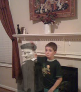 Interesting, That Same Little Boy Ghost Visited My House Today. Here He Is,  Playing With My Son!
