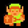 Test de The Legend of Zelda (NES) . Link+NES