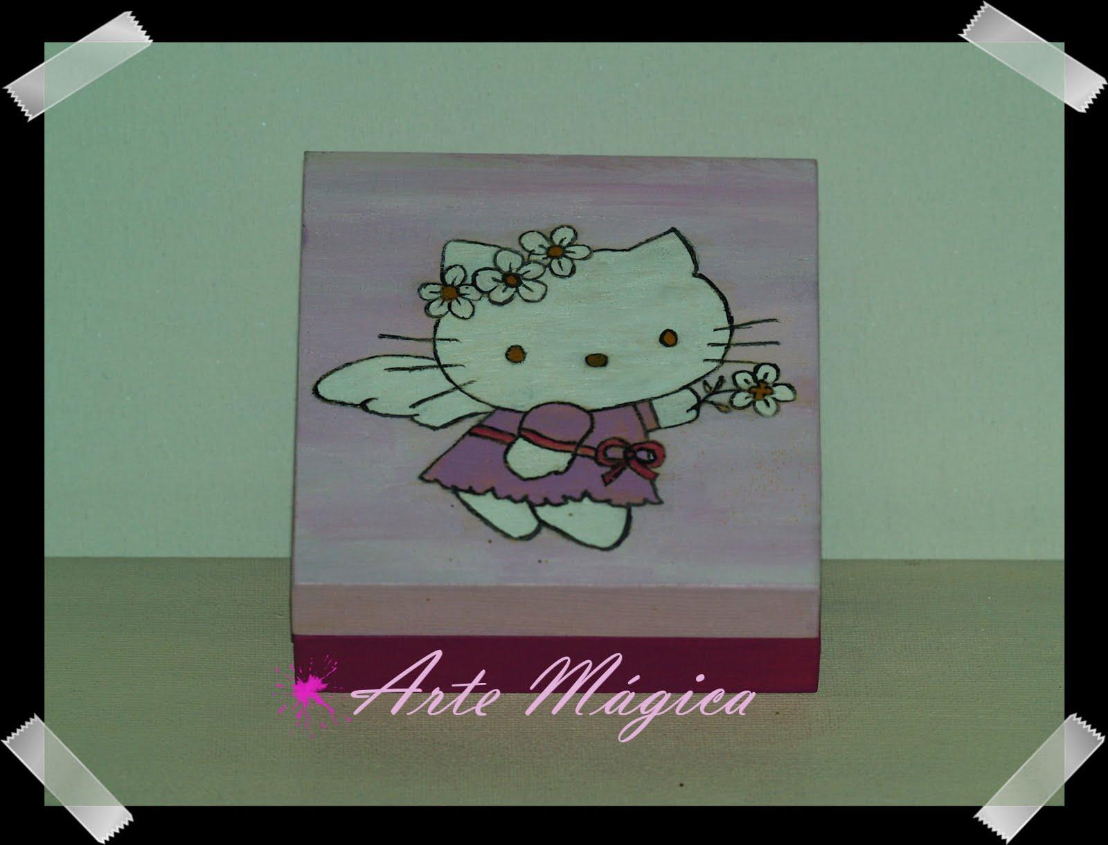 Arte mágica: Caixa de madeira Hello Kitty Angel  #824971 1600x1221
