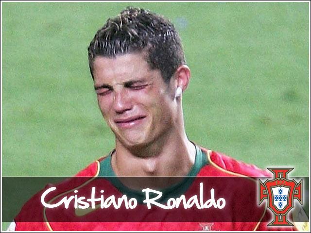 sports players ronaldo crying very latest photos
