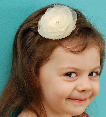SewSweetStitches Organza Flower Hair Clips For A Wedding