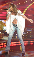 Jennifer Lopez Performing on a TV Show in Barcelona