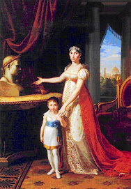 Elisa Buonaparte con la figlia Napoleona Elisa