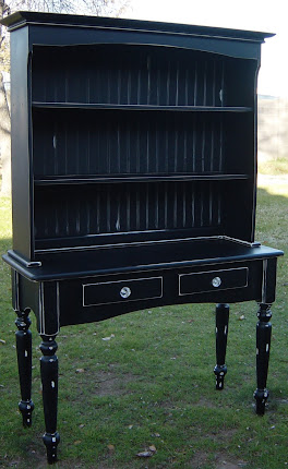 Black Distressed Hutch (SOLD)