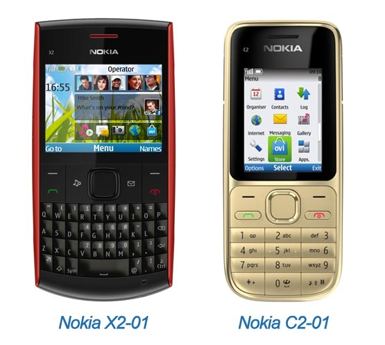 Nokia X2-01 and Nokia C2-01 have been announced | Reviews | Pictures|