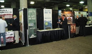 The Carpet and Rug Institute booth at Surfaces 2010