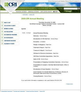 CRI Annual Membership Meeting Agenda