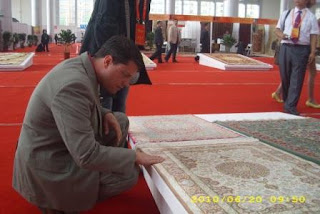 Jeff Carrier examines incredible chinese rug