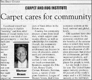 Carpet Industry Cares For Community: Werner Braun