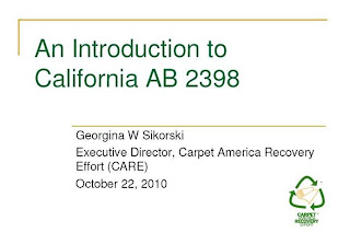 CARE Webinar: AB 2398 California Carpet Recycling Bill