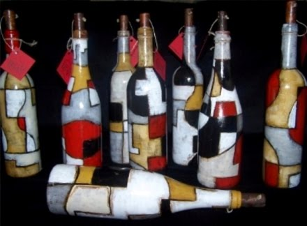 BOTELLAS - mensaje en una botella de arte ( message in a art bottle)