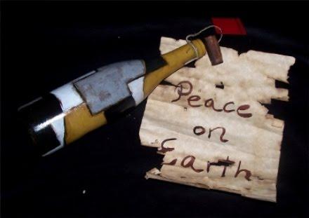 mensaje en una botella de arte
