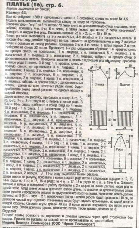 вязанные платья для девочки 3-х лет описание и схемы.