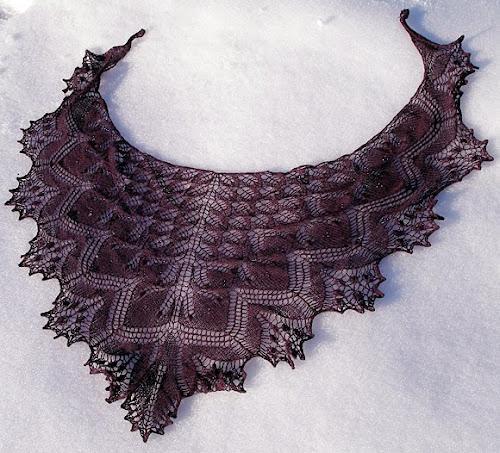 Второй этап совместного вязания Эоловой шали/ aeolian shawl, дизайнер Elizabeth Freeman., авантюра от светлинки, совместное вязание шали
