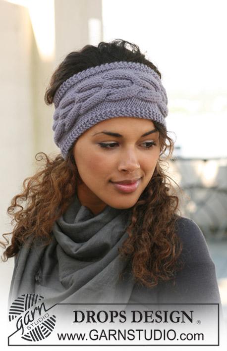 повязка на голову схема вязания спицами.
