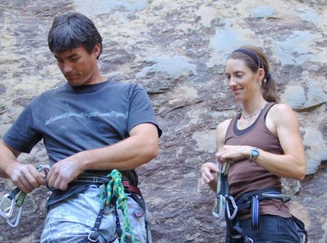 Kati & Paul Climbing