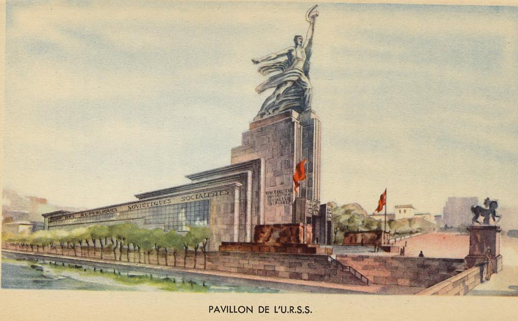 Hayes peoples history paris expo 1937 soviet pavilion for Architecture urss