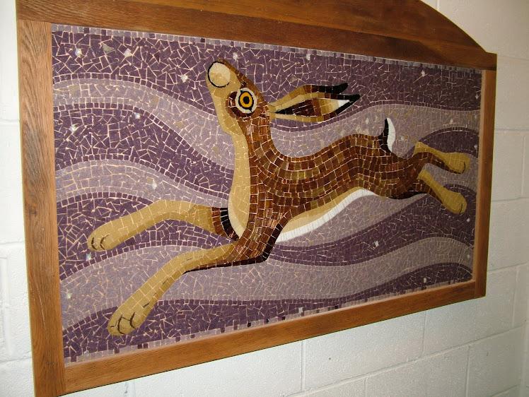 Mosaic Moon Gazing Hare