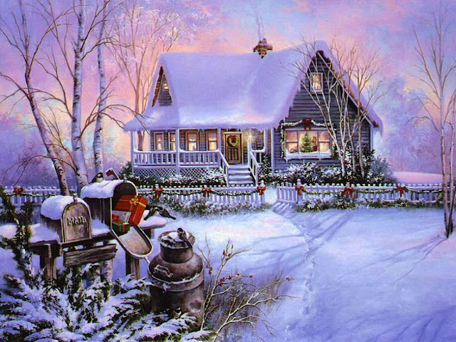 Home christmas painting wallpaper