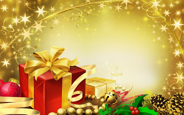 Gift Wrapping Christmas Wallpaper
