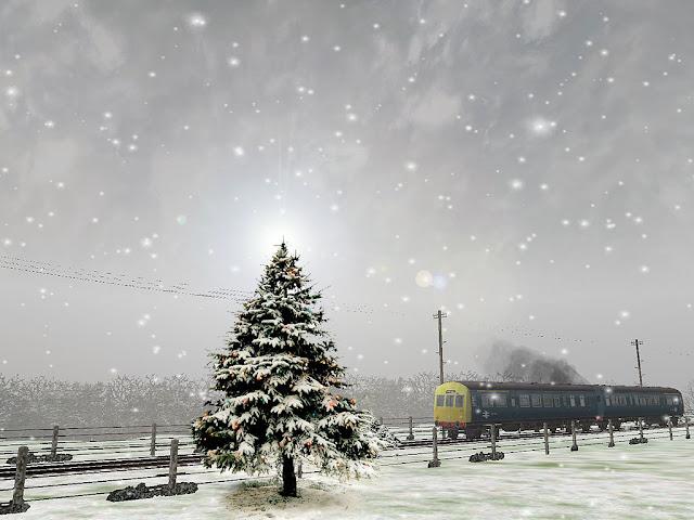 Free Winter wallpaper train in the snow