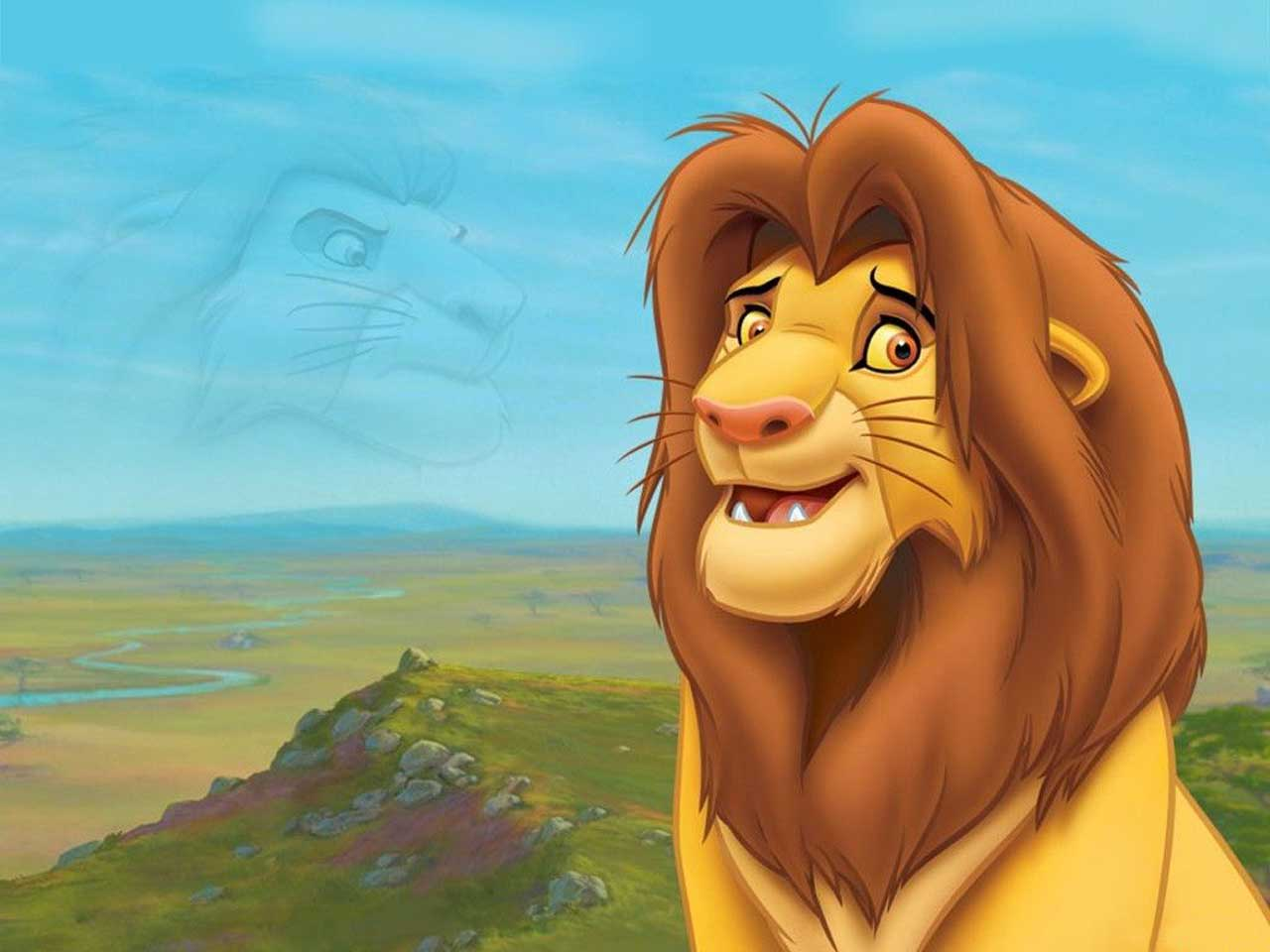 Cartoon wallpaper simba the lion king