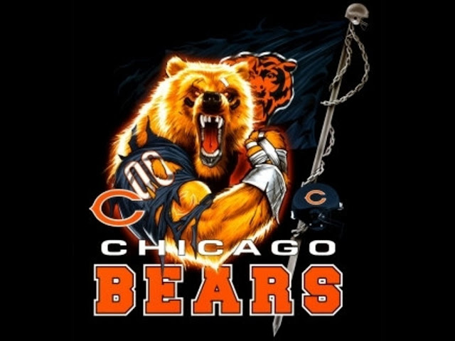 Black Chicago bears wallpaper   Urban Art Wallpaper