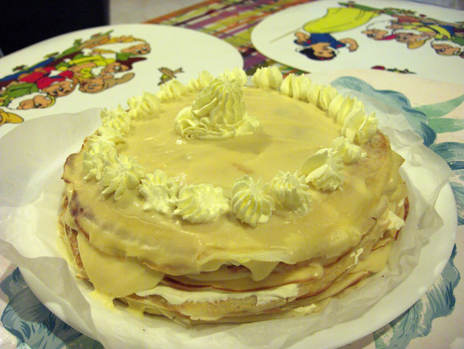 Lemon Curd Crepe Cake Masterchef