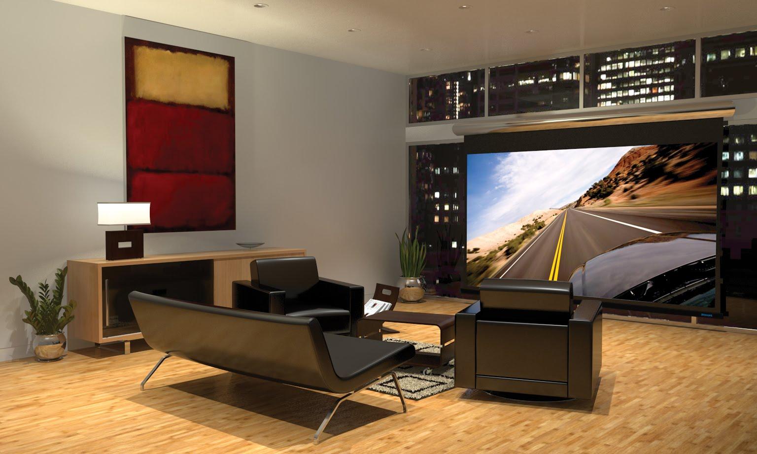 Sala De Tv Com Projetor ~ na maior parte dos casos a imagem vem de uma tv de plasma lcd ou led