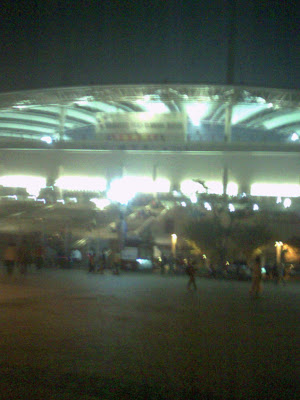 Blurry pic of outside WC Stadium