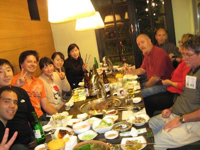Dinner at samgyupsal-galbi place in Hongdae