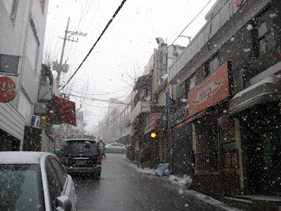 Snow in Itaewon, Jan 25, 2009