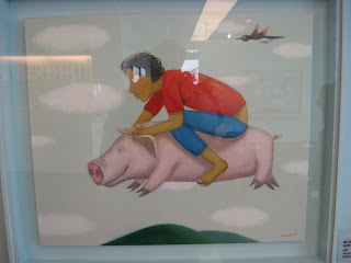Choi Suk Un, flying pig painting