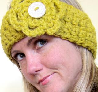 Free Crochet Pattern For Ear Warmer Headband With Flower : Mel P Designs: Free crochet headband earwarmer pattern