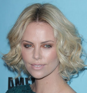 Modern Charlize Theron Short Wavy Hairstyles