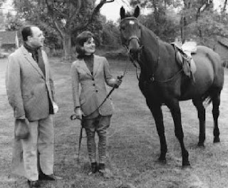 Late Pakistani President Ayub Khan with First Lady Jackie Kennedy and Sardar (the Pakistan President's horse) in 1961