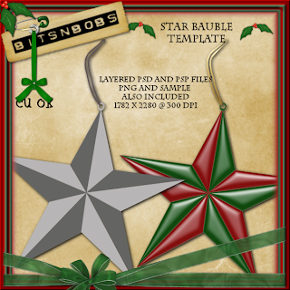 http://scrappingbits.blogspot.com/2009/11/cu-star-bauble-template-freebie.html